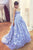 Sweetheart A Line Prom Dress Backless Ball Gown Party Dress with Appliques P863