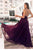 Chic Spaghetti Straps Chiffon V Neck Sleeveless Floor Length Prom Dress P691