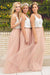 Simple Two Pieces Tulle Sleeveless Bridesmaid Dress B311