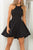Simple Backless Stain Homecoming Dress,Two Piece Straps Short Prom Dress HCD85 - Ombreprom