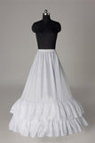 Nice Nylon A-Line 1 Tier Floor Length Slip Style Wedding Petticoats P06