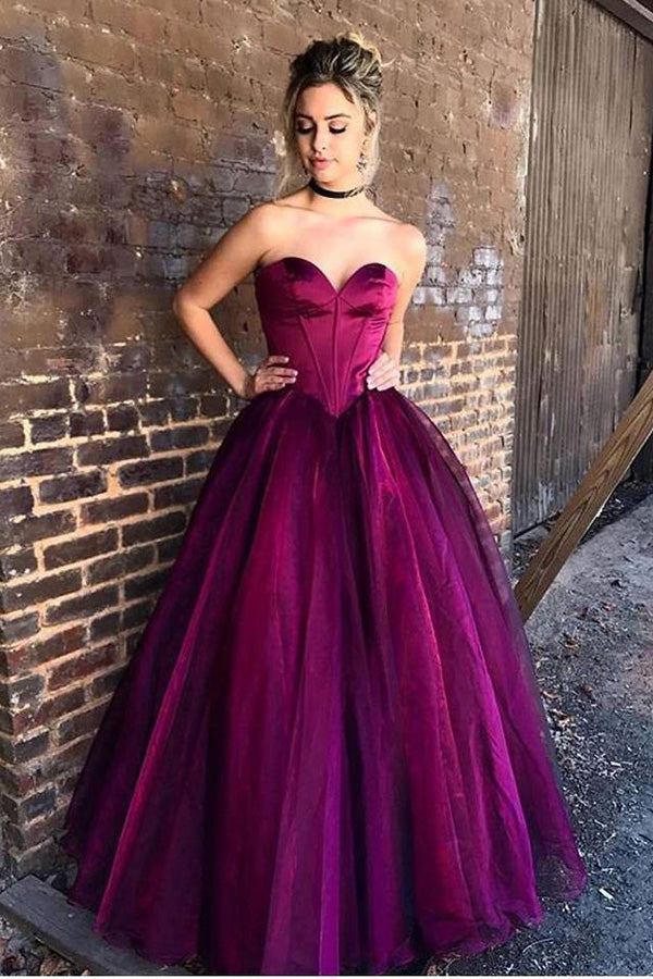 Impressive Sweetheart Sleeveless A Line Ball Gown Floor Length Prom Dress P808