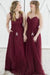 Impressive Sweetheart Chiffon Floor Length Long Bridesmaid Dress B366