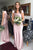 Chic Cap Sleeves Satin Long Bridesmaid Dress Floor Length B458