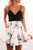 Chic Straps Deep V Neck Short Knee Length Homecoming Dress M478