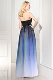Ombre A Line Floor Length Sweetheart Strapless Sleeveless Prom Dress,Formal Dress O14 - Ombreprom