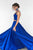 Royal Blue Two Piece A Line Floor Length Sweetheart Sleeveless Mid Back Prom Dress,Party Dress P115 - Ombreprom