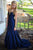 Blue Trumpet Court Train Sweetheart Strapless Sleeveless Satin Prom Dress,Party Dress P420 - Ombreprom