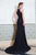 Black A Line Halter Sleeveless Brush Train Elastic Woven Satin Dresses Prom Dress,Party Dress P358 - Ombreprom