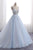 Ball Gown Chapel Train V Neck Sleeveless Backless Appliques Prom Dress,Party Dress P484 - Ombreprom