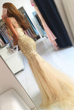 Mermaid Brush Train Sleeveless Layers Tulle Beading Prom Dress,Party Dress P447