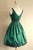 Green A Line V Neck Sleeveless V Back Short Homecoming Dress,Short Prom Dress H270