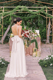 Elegant Open Back V Neck With Bowknot Bridesmaid Dress B409