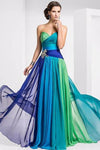 Ombre A Line Floor Length Sweetheart Strapless Sleeveless Prom Dress,Bridesmaid Dress O03 - Ombreprom