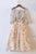 Illusion Sheer 1/2 Sleeve Homecoming Dress,Lace Appliques Short/Mini Prom Dress H242