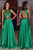 Green Sleeveless Prom Dress,A Line/Princess Open Back Beading Evening Dress OMP40