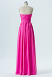 Peony A Line Floor Length Straight Strapless Sleeveless Lace Appliques Cheap Bridesmaid Dresses B169 - Ombreprom