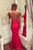 Red Trumpet Floor Length Spaghetti Sleeveless Backless Appliques Long Prom Dress,Party Dress P205 - Ombreprom