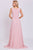 Pink A Line Brush Train Sleeveless Zipper Back Chiffon Prom Dress,Party Dress P499 - Ombreprom