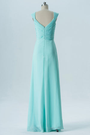 b88e5062ca5 Mint Green A Line Floor Length Sweetheart Sleeveless Open Back Cheap Bridesmaid  Dresses B135 - Ombreprom