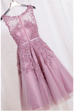 Elegant Appliques Homecoming Dresses, Tulle Short Prom Dress HCD61