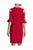 Red Sheath Knee Length Bateau Neck Half Sleeve Zipper Back Mother of the Bride Dresses M24 - Ombreprom