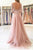Gorgeous Applique Tulle 3/4 Sleeves Floor Length Prom Dress P715