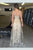 Gold A Line Floor Length Sheer Neck Sleeveless Zipper Back Prom Dress,Party Dress P423