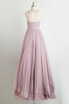 Pink A Line Floor Length Sheer Neck Sleeveless Sheer Back Long Prom Dress,Party Dress P219 - Ombreprom
