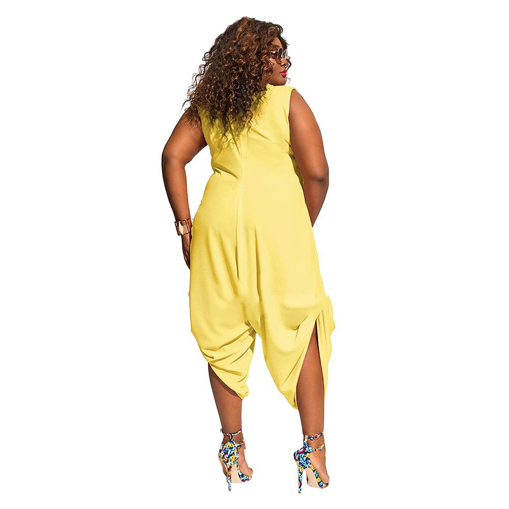 White Loose Plus Size Jumpsuit FP2597