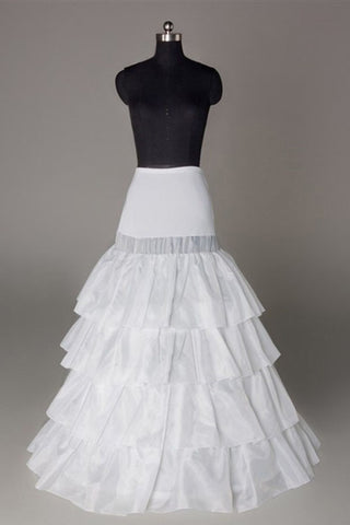 Nylon A-Line 4 Tier Floor Length Slip Style Wedding Petticoats P05