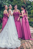 A Line Floor Length Sweetheart Sleeveless Layers Bridesmaid Dress,Wedding Party Dress B336 - Ombreprom