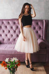 A-Line Sexy Halter Tulle Sleeveless Homecoming Dress M450 - Ombreprom