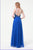 A Line Floor Length Halter Sleeveless Beading Backless Prom Dress P59 - Ombreprom