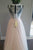 A Line Floor Length Deep V Neck Sheer Back Appliques Cheap Wedding Gown,Beach Wedding Dress W141 - Ombreprom