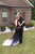 Ombre Trumpet Court Train Capeed Sleeve Appliques Side Slit Prom Dress,Formal Dress