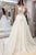 Chic V Neck Sleeveless Sweep Train Lace Wedding Dresses with Appliques W510