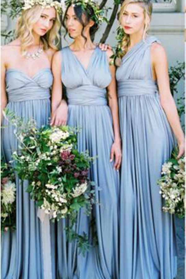Gorgeous Different Styles Sleeveless Light Blue Bridesmaid Dress B379