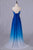 Simple Elegant Ombre Chiffon Long Backless A-line Bridesmiad Dresses For Wedding Prom Gowns D396