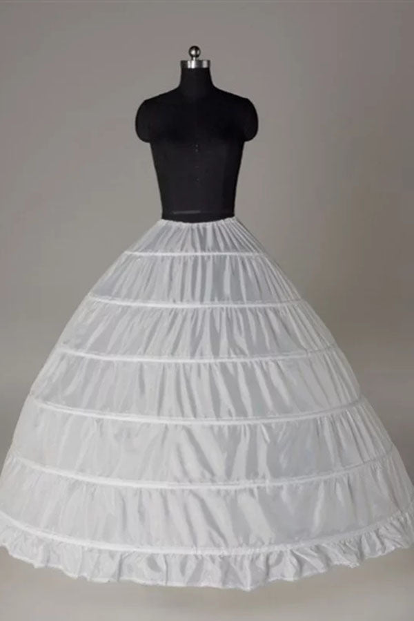 Nylon Ball-Gown 1 Tier Floor Length Slip Style Wedding Petticoats P02