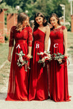 Charming Long A-line Beautiful  Bridesmaid Dress For Women B511