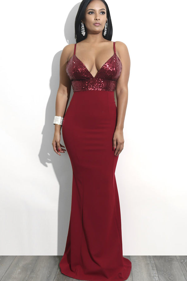 Simple Spaghetti Straps Backless Floor Length V Neck Prom Dress P893