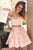 Gorgeous A-line Knee Length Homecoming Dress M480