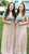 Elegant Short Sleeveles V Neck With Sequins Long Bridesmaid Dress B396
