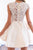 Charming Satin A-Line Scoop Sleeveless Zipper Back Mini Skirt,Homecoming dress ,M284 - Ombreprom