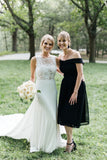 Round Neck Sleeveless Long Wedding Dress W824