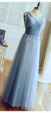Charming V Neck Sleeveless With Beaded Prom Dress Bridesmaid Dress B377