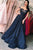Luxury Sheer Neck Lace Prom Dress A Line Ball Gown with Appliques P880