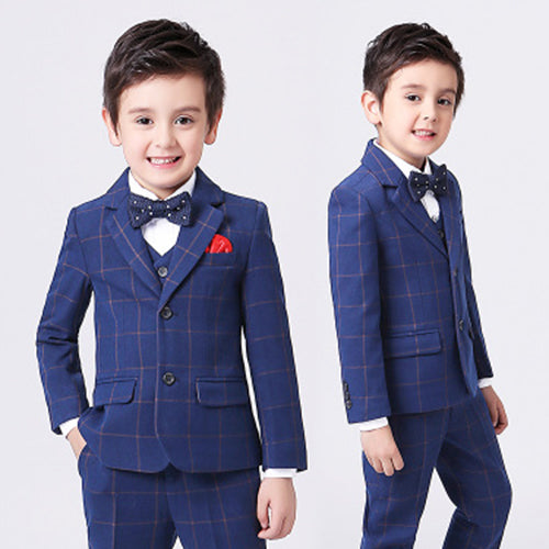 Little Boys Slim Fit Suit Long Sleeves Ring Bearer Suits R02