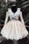 A-line V-neck Long Sleeves Short Homecoming Dress With Lace Appliques M787